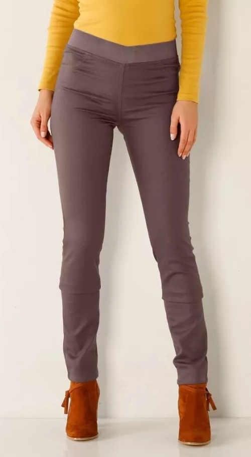Farebné džínsové legíny pre vysokú postavu