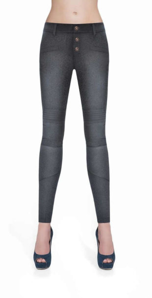 Jeansové legíny v atraktívnom vzhľade v rôznych farbách