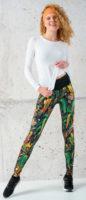 Pestrofarebné dámske športové bežecké legíny