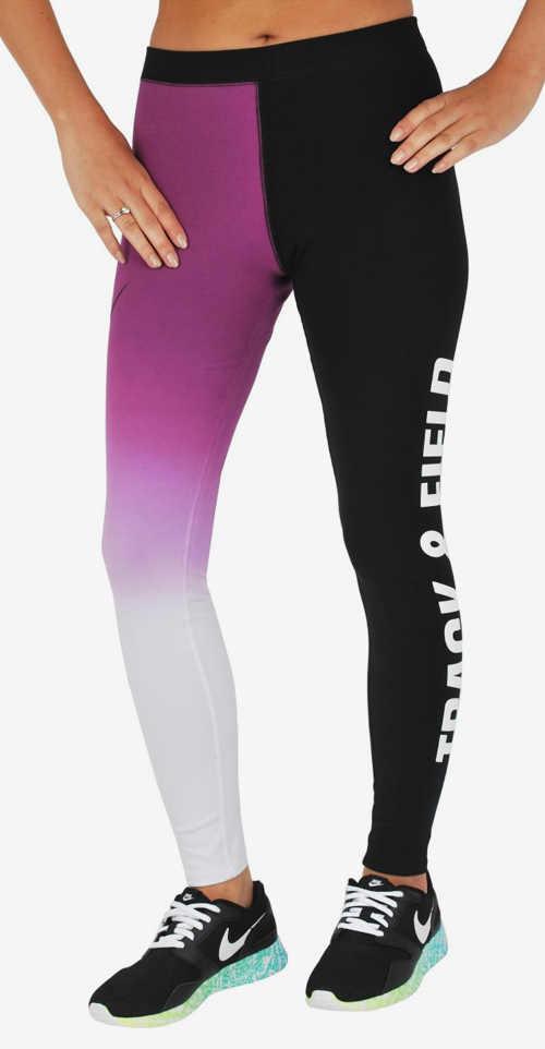 Farebné legíny na cvičenie Nike