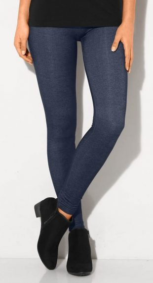 Legíny z džínsového úpletu