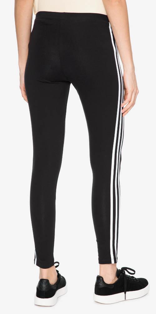 Čierne bavlnené legíny na beh Adidas