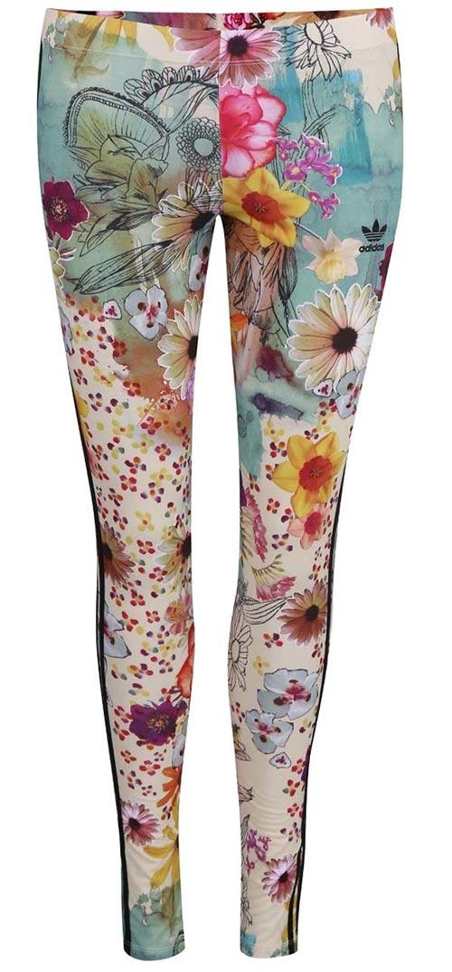 Kvetované dámske legíny adidas Originals