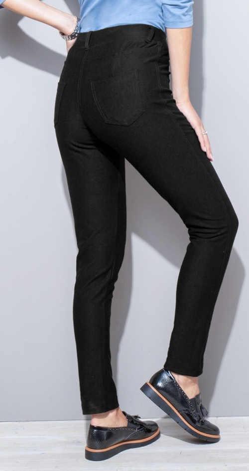 Čierne dámske elastické džegíny