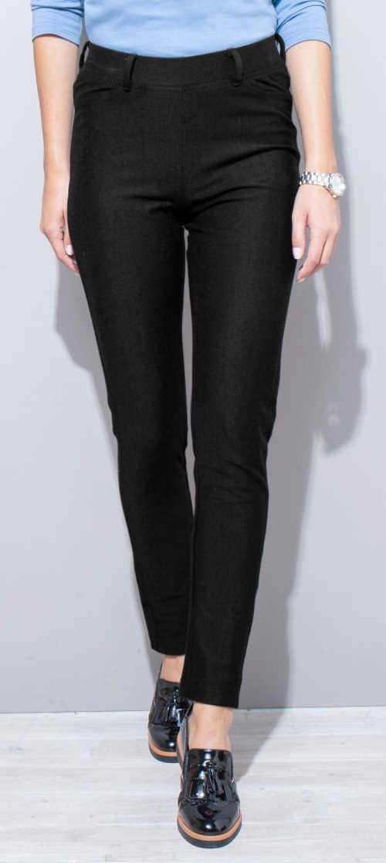 Čierne dámske legínové nohavice