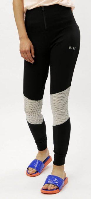 Dámske legíny Nike sa sitovým vsadením cez kolená