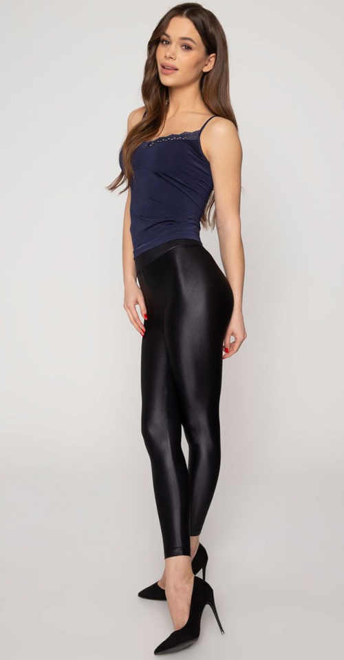 Legíny lesklé dlhé nohavice