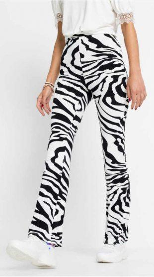 Legíny Zebra so zvonovými nohavicami