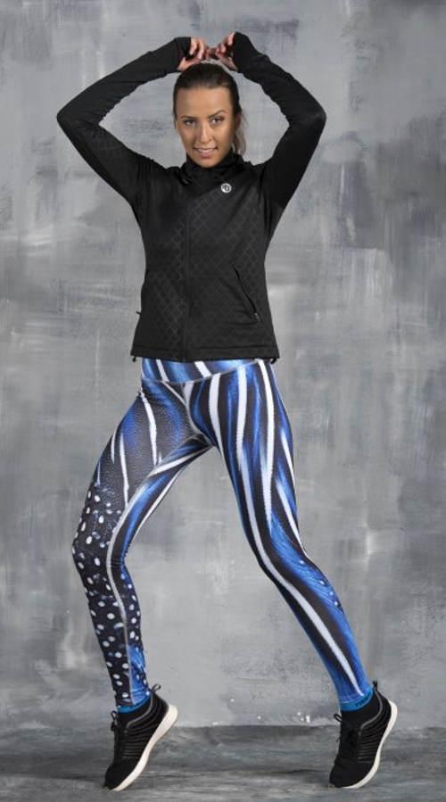 Modré dámske bežecké legíny