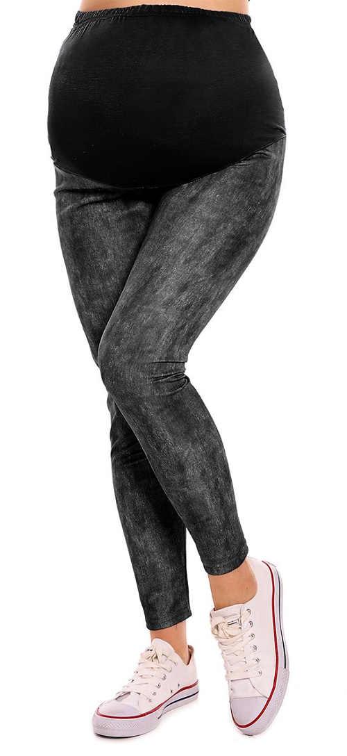 Štýlové legíny v čiernej farbe pre nastávajúce mamičky