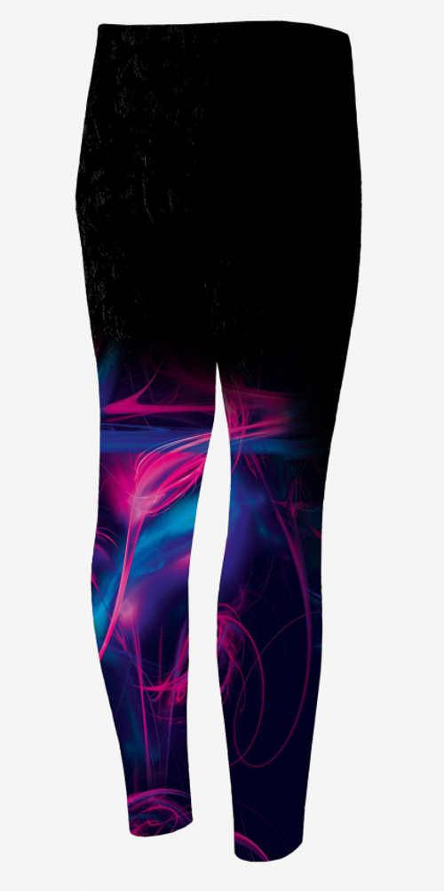 Cvičebné legíny s farebnými nohavicami