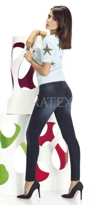 Dámske legíny v džínsovom dizajne
